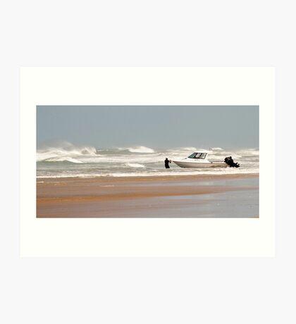 Gone Fishing - Baylys Beach boaties Art Print