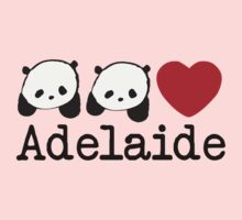 wang wang & funi love adelaide Kids Tee