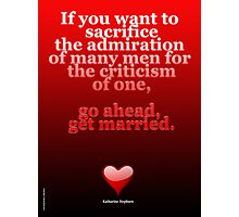 GET MARRIED ART Photographic Print