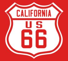Route 66 California Road Sign Kids Tee