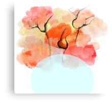 Abstract Flower Design Canvas Print