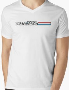 TEAM.MEAT : A Real Meaty Hero Mens V-Neck T-Shirt