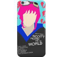 Scott Pilgrim Verses The World - Saul Bass Inspired Poster (Untextured) iPhone Case/Skin