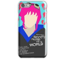 Scott Pilgrim Verses The World - Saul Bass Inspired Poster (Untextured) iPhone Case/Skin