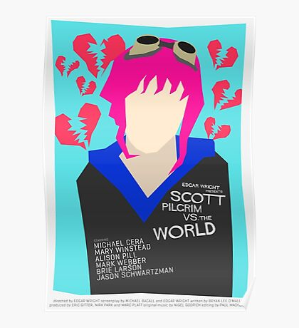 Scott Pilgrim Verses The World - Saul Bass Inspired Poster (Untextured) Poster