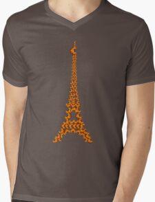 La Tour Des Croissants Mens V-Neck T-Shirt