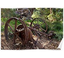 Old Farm Implement - Churchill Island Poster