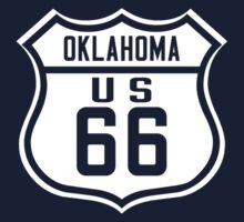 Route 66 Oklahoma Road Sign Kids Tee