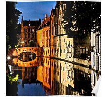 Artistic Bruges Poster
