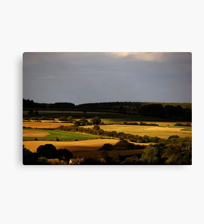 Evening Landscape - Oxfordshire, England Canvas Print