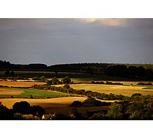 Evening Landscape - Oxfordshire, England Photographic Print