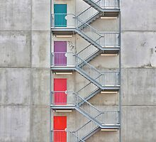 Coloured Doors by Stephen Mitchell