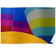 Hot Air Balloons Inflating Poster