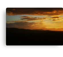 Sunset Skies over Edinburgh Canvas Print