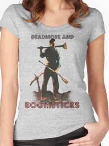 Deadmobs and Boomsticks Women's Fitted Scoop T-Shirt