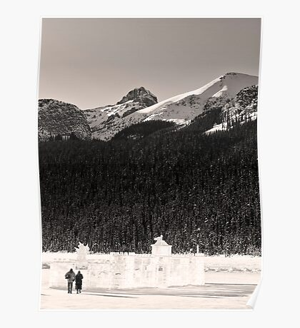 Lovers Stroll from an Ice Castle Poster