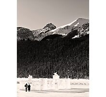 Lovers Stroll from an Ice Castle Photographic Print