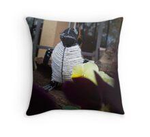 Howdy penguin Throw Pillow