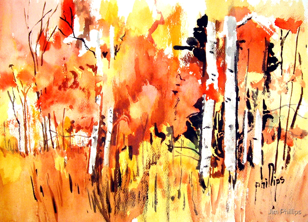Autumn Forest by Jim Phillips