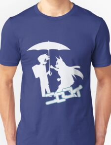 Nisekoi Chitoge Umbrella Silhouette  With Logo T-Shirt
