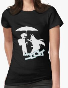 Nisekoi Chitoge Umbrella Silhouette  With Logo T-Shirt