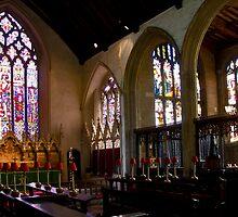 The interior glory of Lavenham Church by BizziLizzy