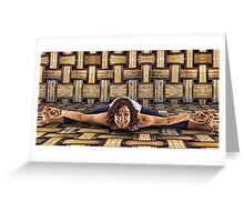 Yoga Stretch Greeting Card