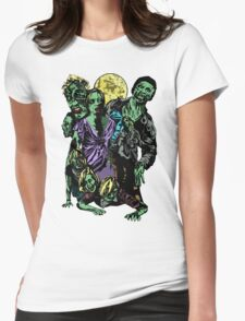 Zombie Horde Womens Fitted T-Shirt