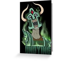 Undying with fog Greeting Card