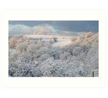 When the Snow Hit #2 Art Print