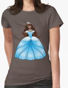 African Princess In Blue Dress Womens Fitted T-Shirt