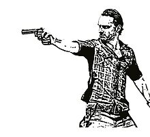 Rick Grimes Walking Dead  by manuwiza