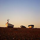 Boats at Sunrise - Cley, Norfolk by Reuben Vick