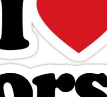 I Love Heart Horses Sticker Sticker
