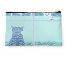 Abstract Cats Staring stylized retro pop art landscape Studio Pouch