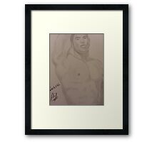 Vin Diesel nude drawing portrait sexy Framed Print