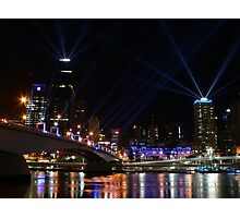 Brisbane laser show Photographic Print