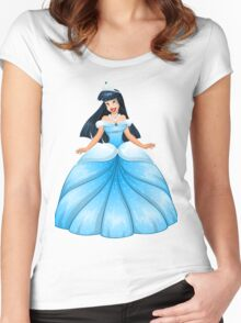 Asian Princess in Blue Dress Women's Fitted Scoop T-Shirt