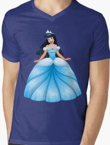 Asian Princess in Blue Dress Mens V-Neck T-Shirt