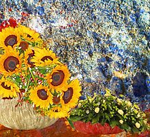 still life with flowers by Rostislav Bouda