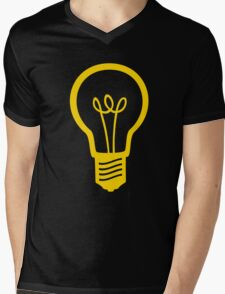 Attention Lightbulb Mens V-Neck T-Shirt