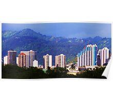 Honolulu Sky Lines Poster