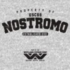 Property of USCSS Nostromo - black by KRDesign