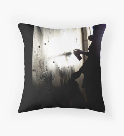 Street Artist - Union Lane Throw Pillow