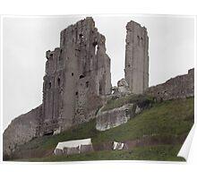 Corfe Castle, Dorset, England Poster