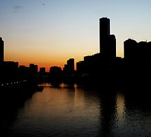 Sunset on Melburn City,  by 0lillypilly0