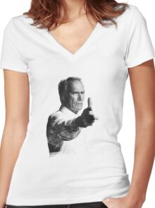 Clint BANG! Women's Fitted V-Neck T-Shirt