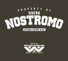 Property of USCSS Nostromo - white by KRDesign