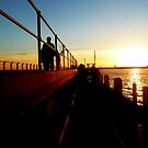 Sunset On St Kilda Beach Pier by 0lillypilly0