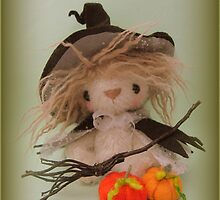 Halloween Witch - Handmade needle felted creation from Teddy Bear Orphans by Penny Bonser